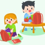 best-free-children-boy-and-girl-getting-ready-for-school-vector-library